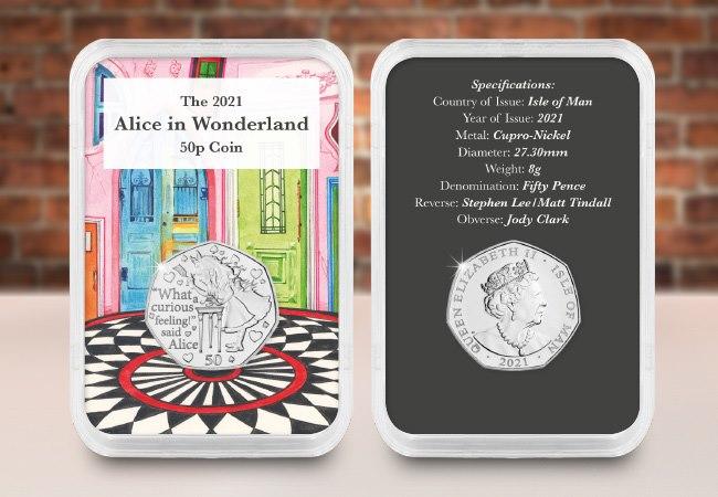 The Alice in Wonderland 50p Capsule Edition