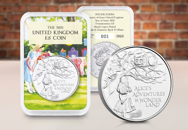 The Capsule Edition featuring the Alice's Adventures in Wonderland £5 Coin
