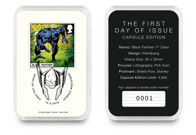First Day of Issue Capsule Edition - Black Panther Stamp - Collectology