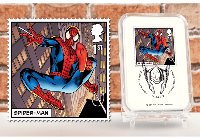 First Day of Issue Capsule Edition - Spider-Man Stamp - Collectology