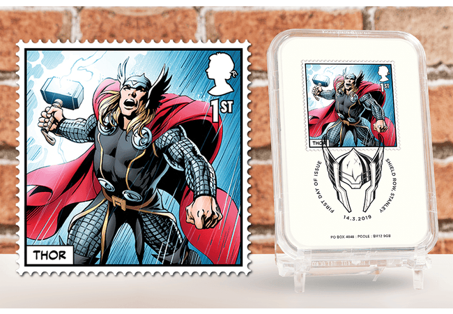 First Day of Issue Capsule Edition - Thor Stamp - Collectology