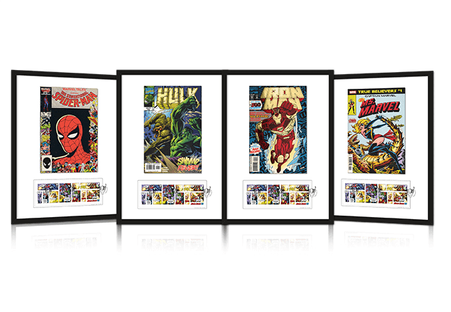 The Ultimate Framed Edition featuring the Marvel Stamps