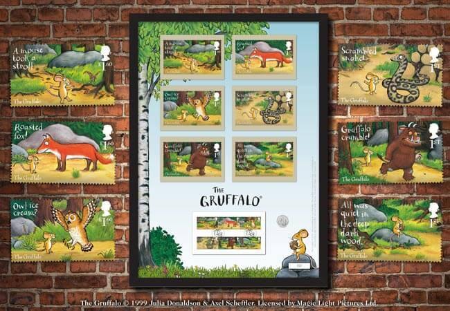 The Gruffalo & Friends Stamps and 50p Framed Edition