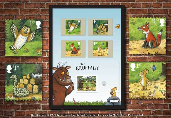 The Gruffalo Stamp and 50p Framed Edition