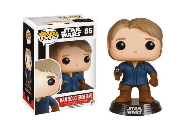The STAR WARS Episode VII Pop! Vinyl Bobble-Head Han Solo in Snow Gear - Collectology