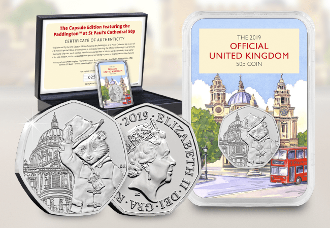 The Capsule Edition featuring the Paddington at St Paul's Cathedral 50p - Collectology