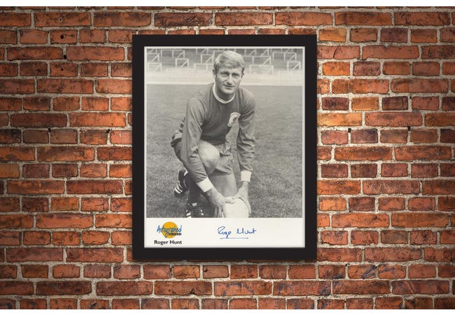 The Roger Hunt Signed Framed Photograph - Collectology