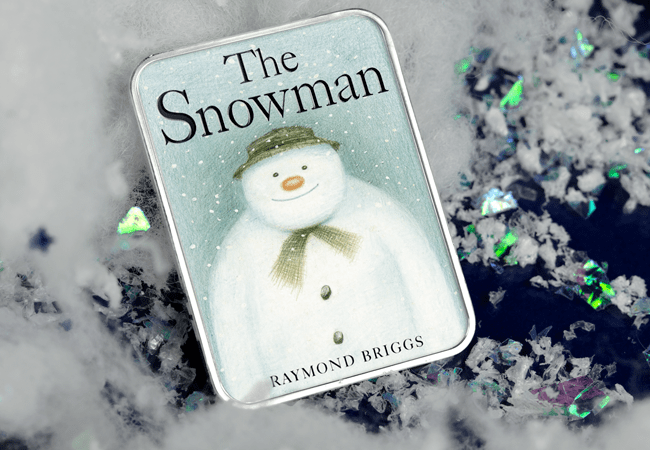 The Snowman Silver-plated Ingot Christmas Card