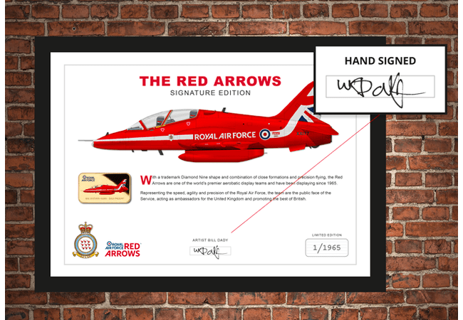 The Red Arrows Hand-Signed Framed Edition - Collectology