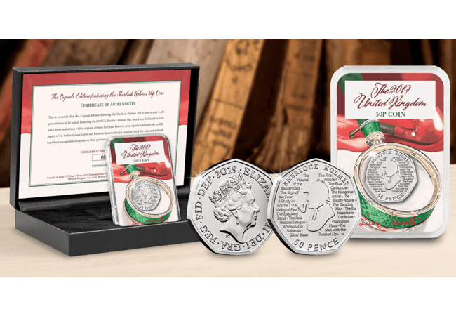 The Capsule Edition featuring the Sherlock Holmes 50p Coin