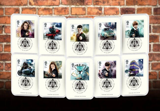 The Collector's Edition featuring the Harry Potter Stamps and Deathly Hallows Postmark