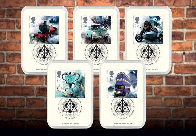 The Collector's Edition featuring the Harry Potter Transport Stamps