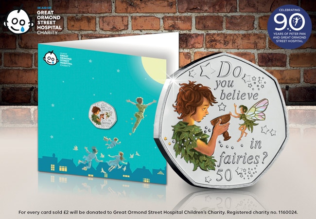 The Peter Pan Coloured 50p Note Card