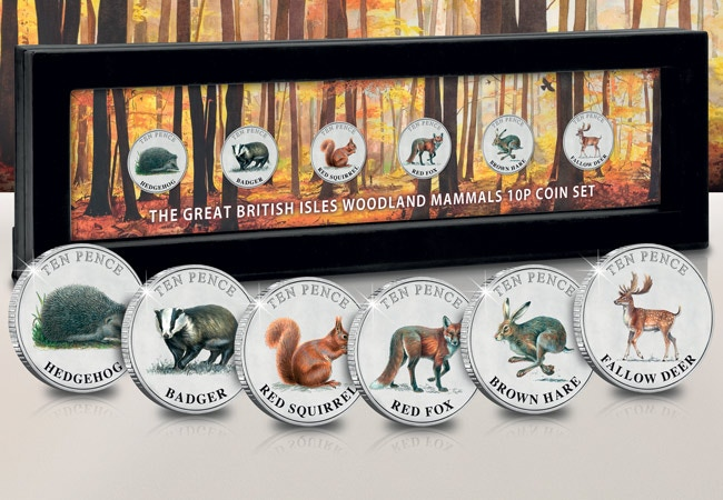 The Woodland Mammals 10p Floating Frame Edition