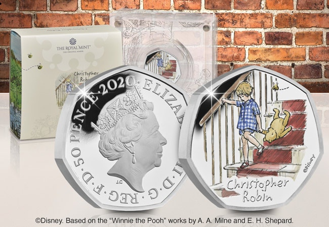 The Christopher Robin Silver Proof 50p