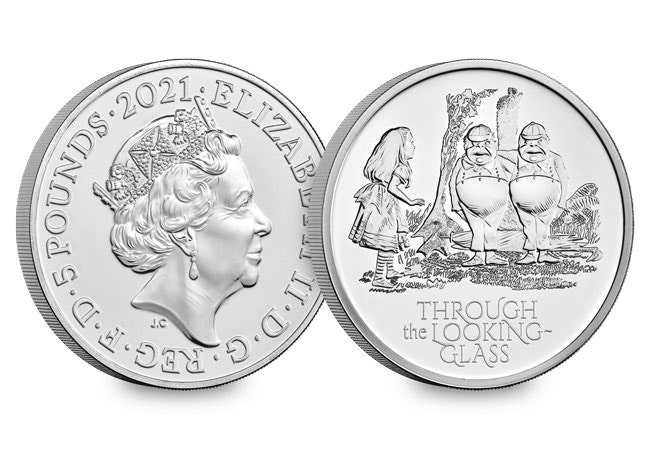 The UK 2021 Alice Through The Looking Glass £5 BU Pack