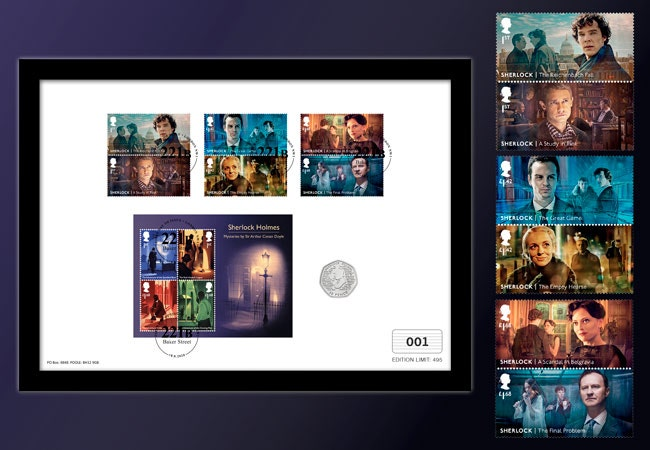 The Ultimate Framed Edition featuring the Sherlock Stamps