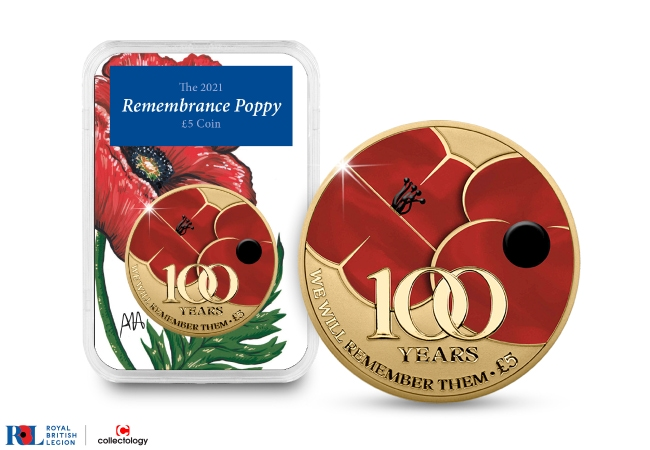 The 2021 Proof Poppy £5 Capsule Edition