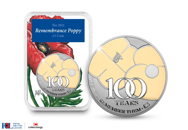 The 2021 Silver Proof Poppy £5 Capsule Edition