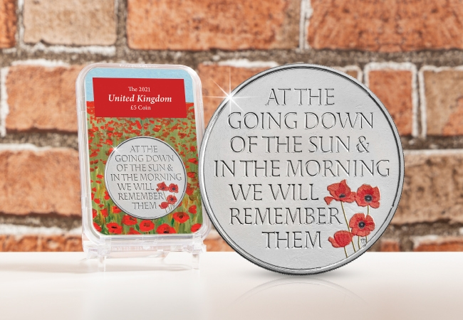 The UK 2021 Remembrance Day £5 Capsule Edition
