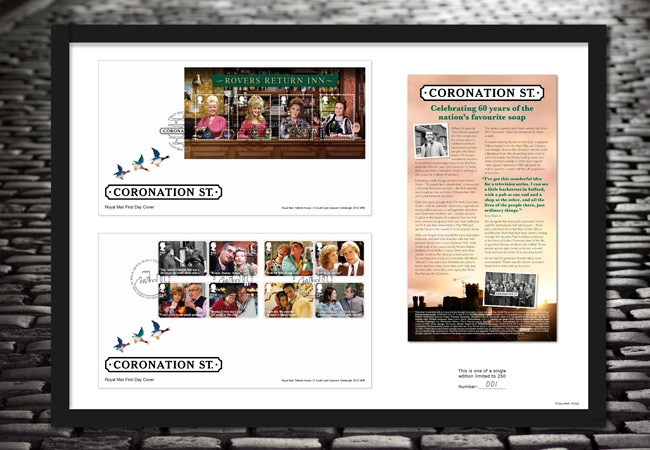 The Ultimate Framed Edition featuring the Coronation Street Stamps