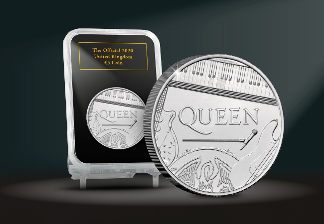 The Capsule Edition featuring the Queen £5 Coin