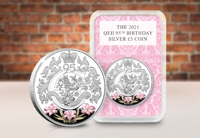The QEII 95th Silver £5 Capsule Edition