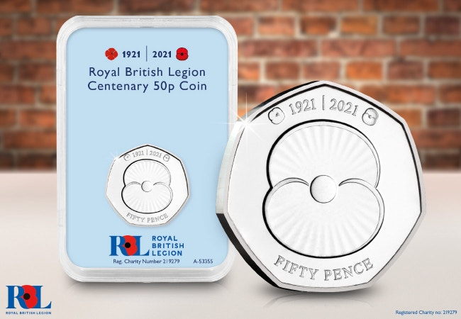 The RBL Centenary 50p Capsule Edition