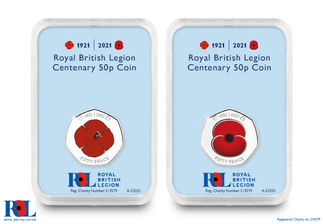 The RBL Centenary 50p Pair