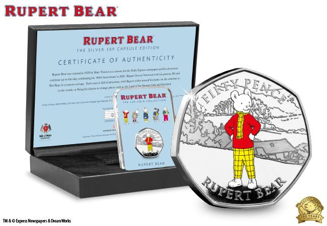 The Rupert Bear Silver 50p Capsule Edition
