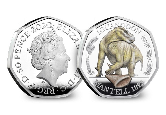 The Iguanodon Coloured Silver Proof 50p