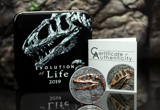 The Silver Sinraptor Coin