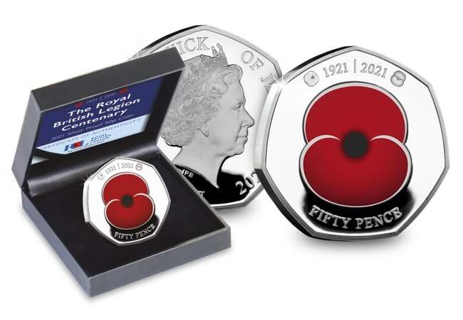 Modern - 2021 RBL Centenary Silver 50p