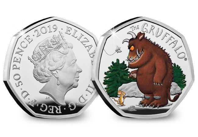 The Gruffalo and Mouse Silver Proof 50p