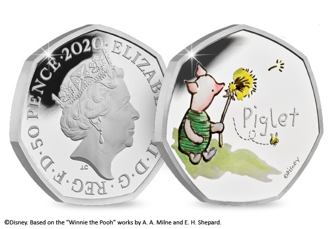 The Piglet Silver Proof 50p
