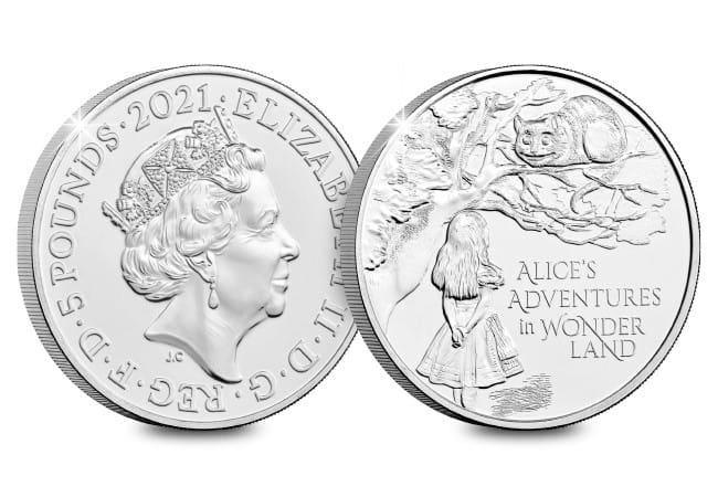 The UK 2021 Alice's Adventures in Wonderland £5 BU Pack