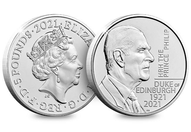 The UK 2021 Prince Philip £5 BU Pack