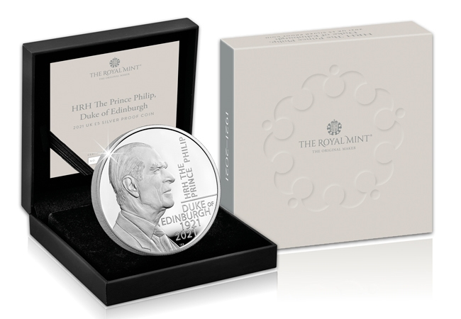 The UK 2021 Prince Philip £5 Silver Coin