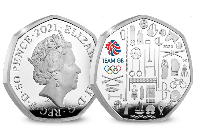 The UK 2021 Team GB Silver Proof 50p