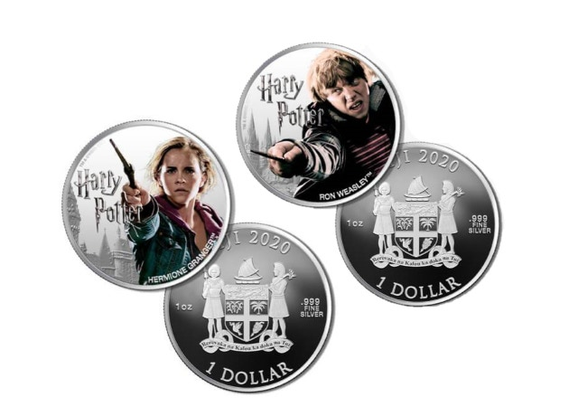 The 1oz Silver Ron and Hermione Coins